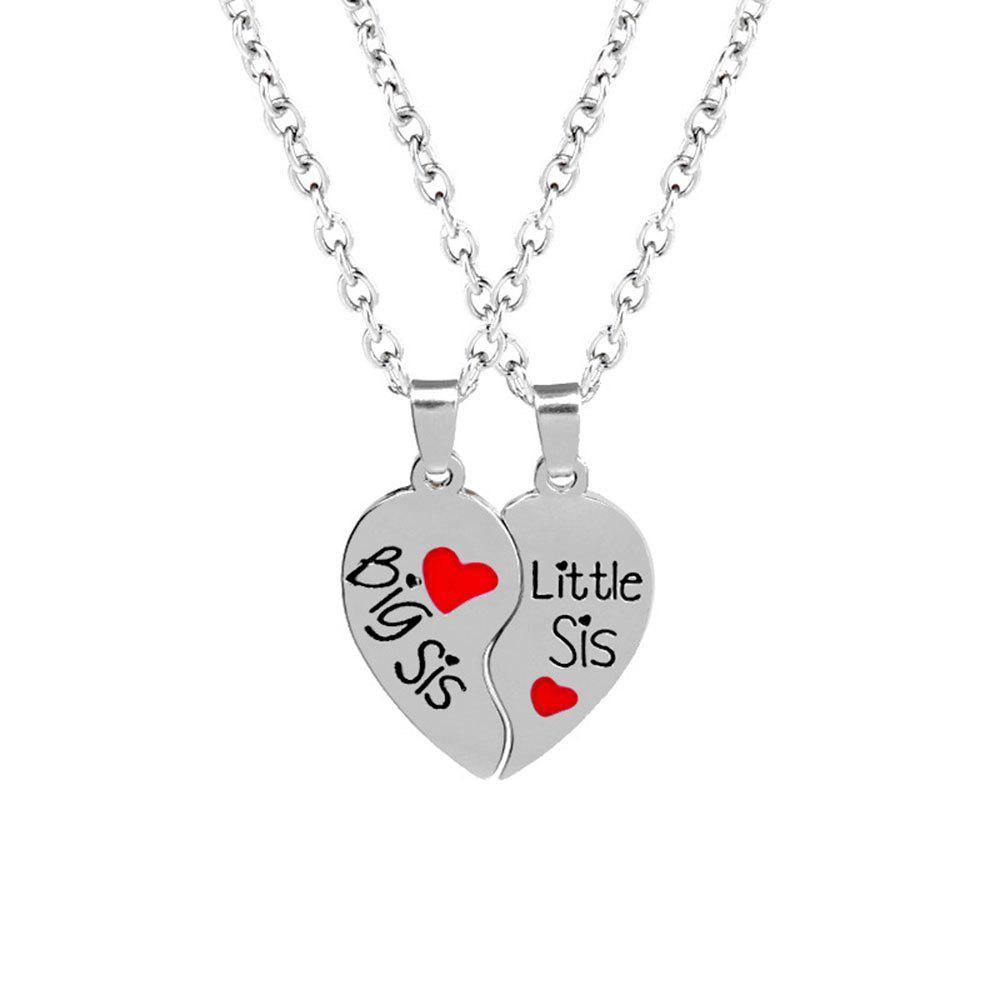 Good Sister Heart  Women Petal Necklace - SILVER