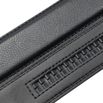 SAN VITALE Slim Stretch Buckle Belt Men Strap - BLACK 125CM