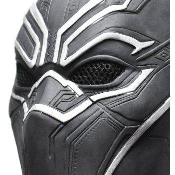 YEDUO Black Panther Masks Movie Fantastic Four Cosplay Latex Party Halloween - JET BLACK