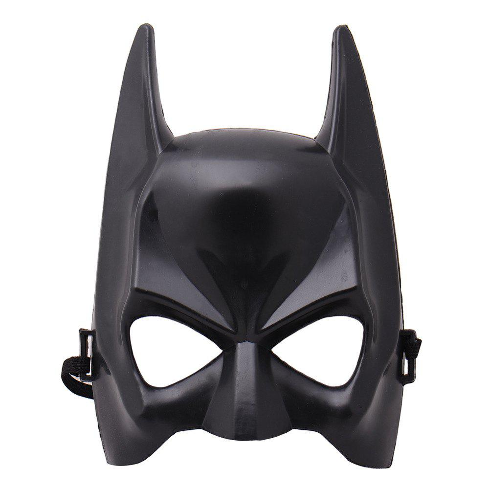 YEDUO Halloween Half Face Batman Mask Black Masquerade Dressing Party Cosplay - BLACK