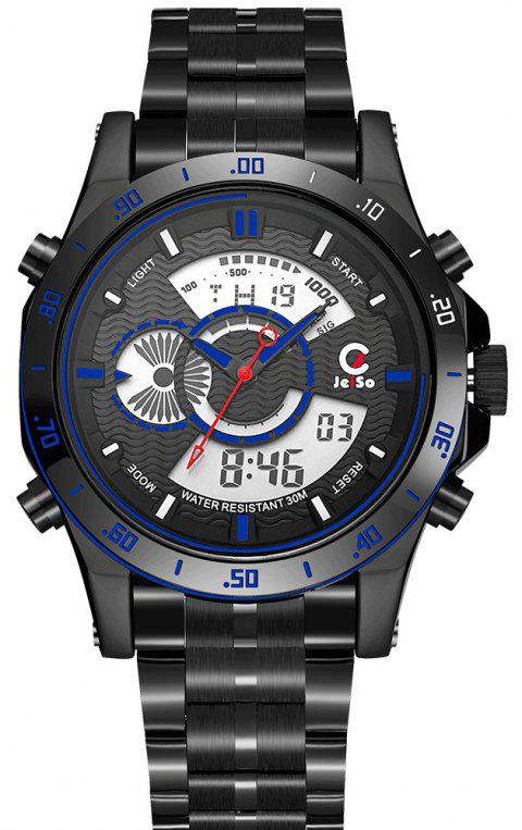 Men Sport Top Quality Dual Display Electronic Digital Military Clock Army Watch - BLACK