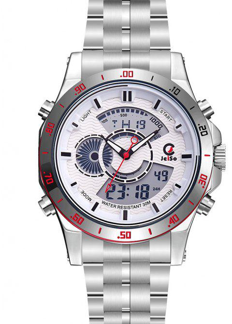 Men Sport Top Quality Dual Display Electronic Digital Military Clock Army Watch - SILVER