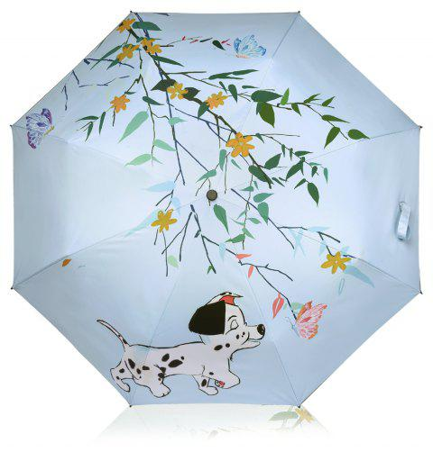 Cute Dog Anti UV Umbrella Folding Umbrella Outdoor Sunshade - multicolor