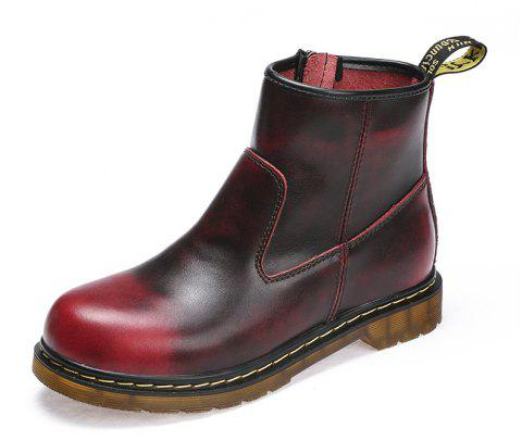 Men Breathable Male Outdoor Couple Boots Shoes - CRANBERRY EU 39
