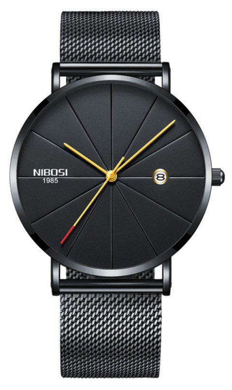 NIBOSI Unisex Luxury Famous Top Brand Dress Fashion Watch Quartz Wristwatches - multicolor F