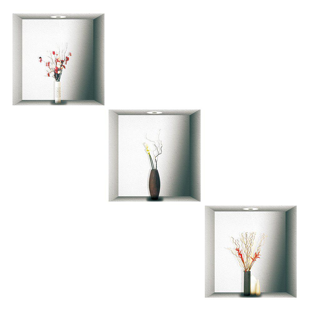 Simulation Lamp 3D Wall Paste Living Room Sofa Triple Stickers Painting BG-010 - multicolor