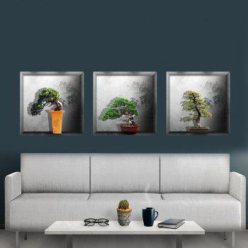 Simulation Lamp 3D Wall Paste Living Room Sofa Triple Stickers Painting BG-011 - multicolor