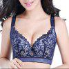 Solid Color Sexy Lace Adjustable Bra - FIRE ENGINE RED 95E