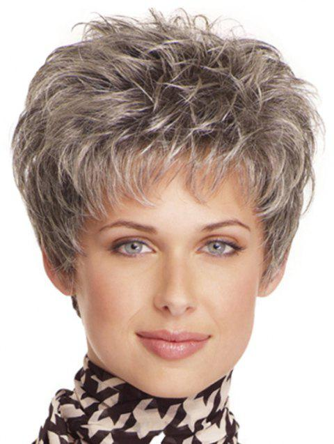 Gradient Ramp Small Curl Short Wig - DARK GRAY