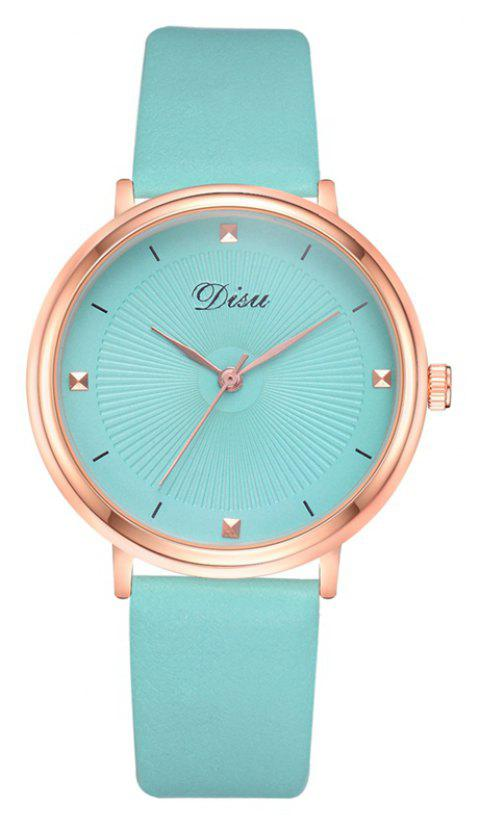 Disu DS142 Women Candy Color PU Leather Quartz Watch - GREEN