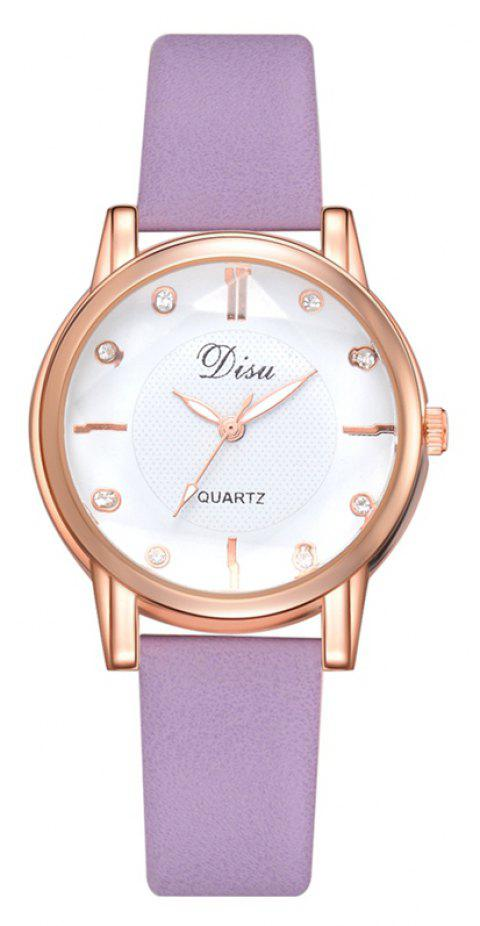 Disu DS152 Women PU Leather Quartz Watch - PURPLE