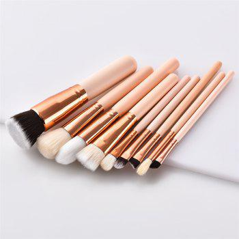 9PCS Eyeshadow Powder Concealer Brush Cosmetic Make Up Tool - multicolor
