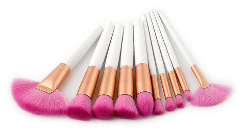 10PCS Eyeshadow Powder Concealer Brush Cosmetic Make Up Tool - CADILLAC PINK