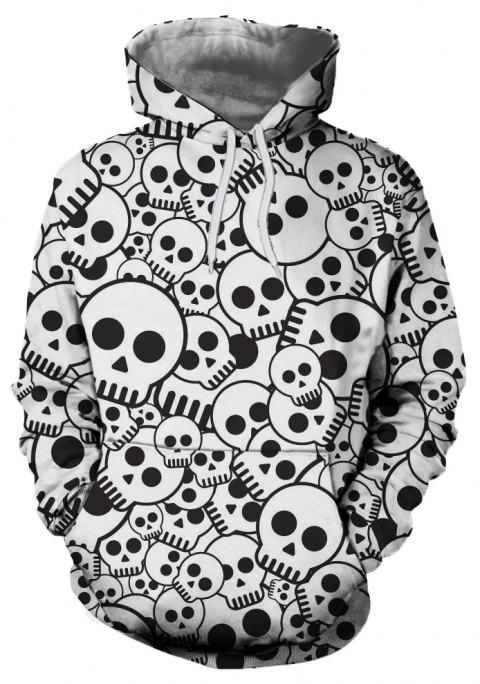 Sweat à capuche Rose Skull Print pour Homme - multicolor A 2XL