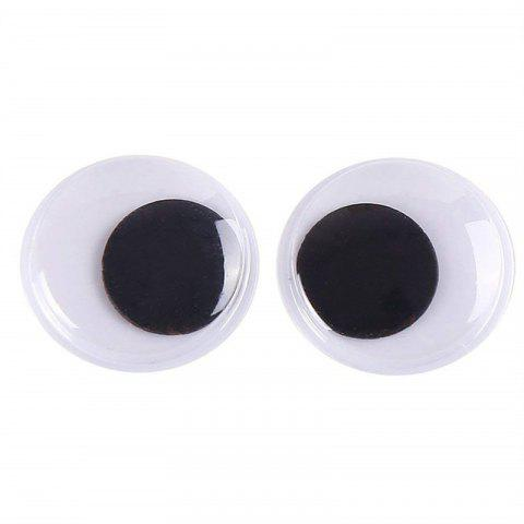8PCS Wiggle Googly Eyes with Self-Adhesive DIY Scrapbooking Crafts Toy - WHITE 18MM