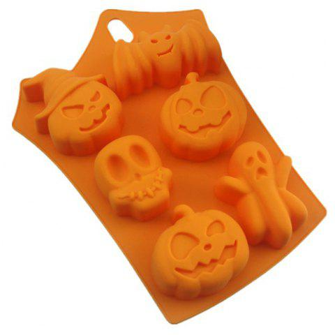 Silicone Cake 6 Hole Halloween Baking Mold - HALLOWEEN ORANGE