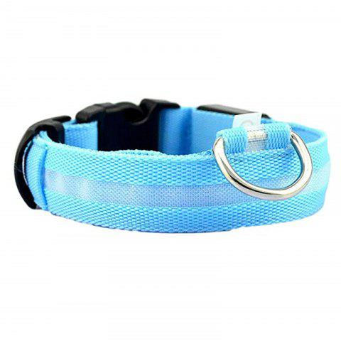 Pet Night Light LED Collar - CRYSTAL BLUE XS