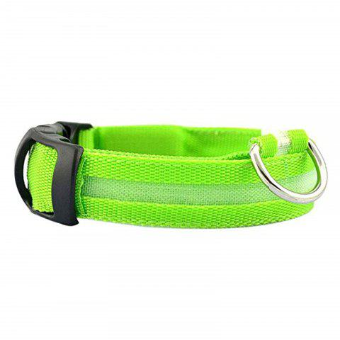 Collier LED Pet Night Light - Vert Jaune M
