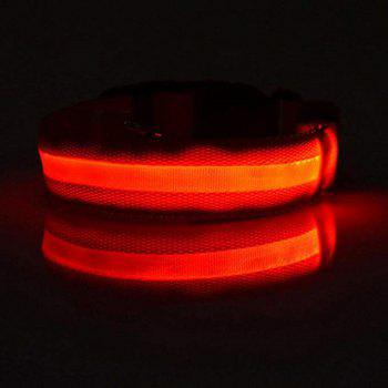 Collier LED Pet Night Light - Rouge Amour S