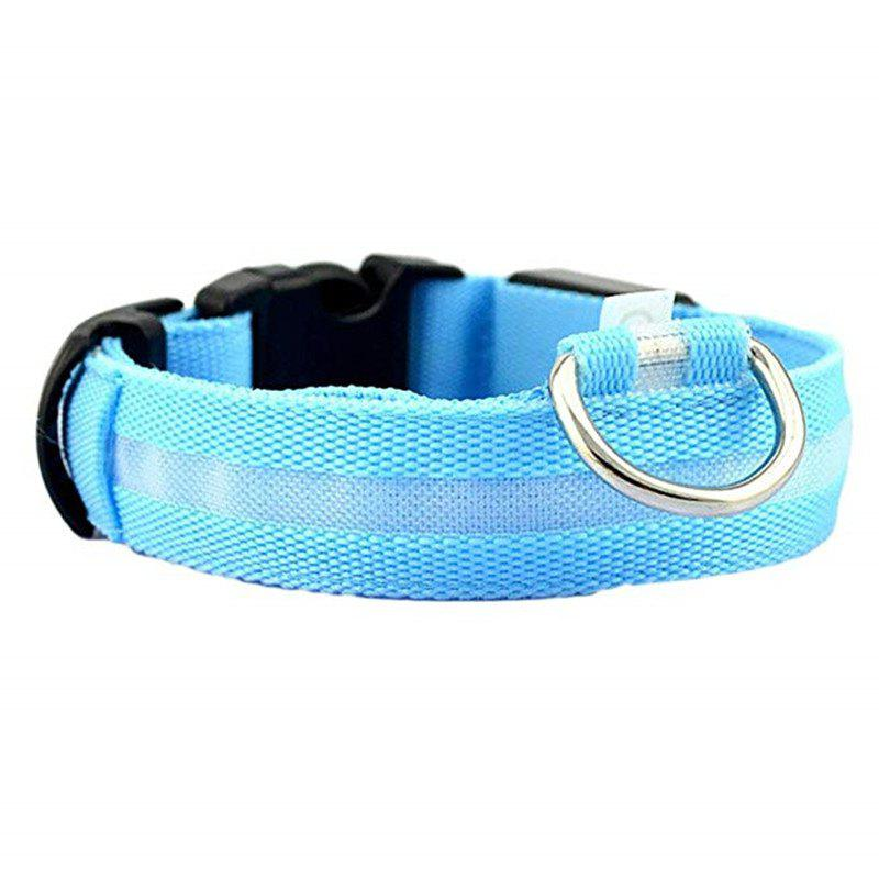 Pet Night Light LED Collar - CRYSTAL BLUE XL