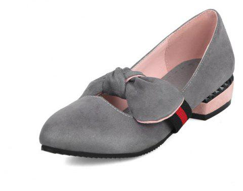 Velveteen Sweet Medium Thick with Simple Student Shoes - GRAY EU 40