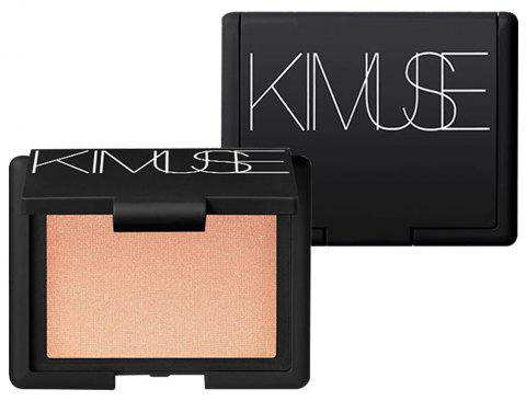 AIKIMUSE Shimmer Pigmenté Metallic Baked Highlighter Blush Palette Maquillage - 001