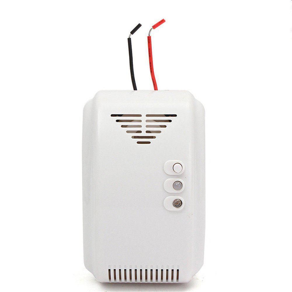 12V Combustible Gas Leak LPG Natural Gas Detector Propane Alarm For RV Van Boat - WHITE