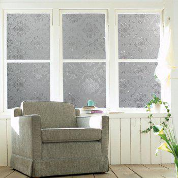 Fashion Flower PVC Window Film Wall Sticker - TRANSPARENT