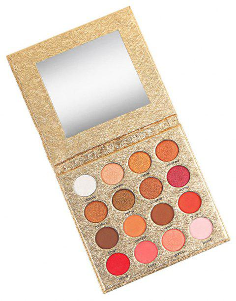 16 Colors Lazy Long-lasting Water-resistant Pearlescent Matte Eyeshadow Palette - 001