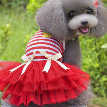 Pet Clothing Dog Gown Vest - RED L