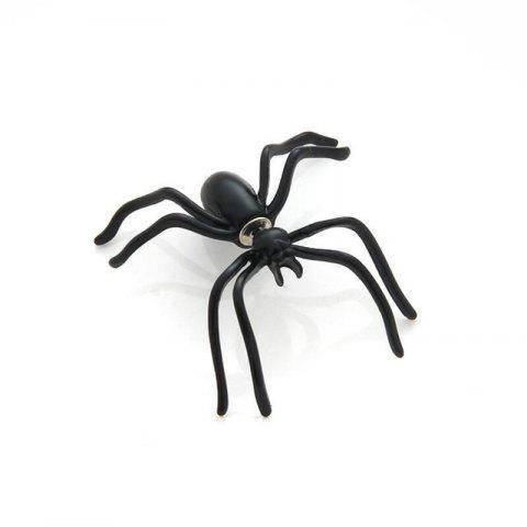 Black Spider Earrings Personality Double-Sided Front and Rear Earrings - BLACK