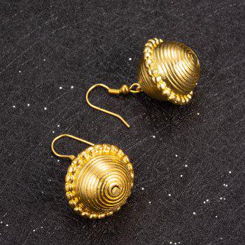Big Round Gold Colour Hoop Earrings Fashion Jewelry for Women - YELLOW 1 PAIR