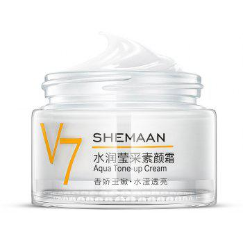SHEMAAN V7 Tone-Up Cream Moisturize Lazy Person Face Cream 50g - WHITE