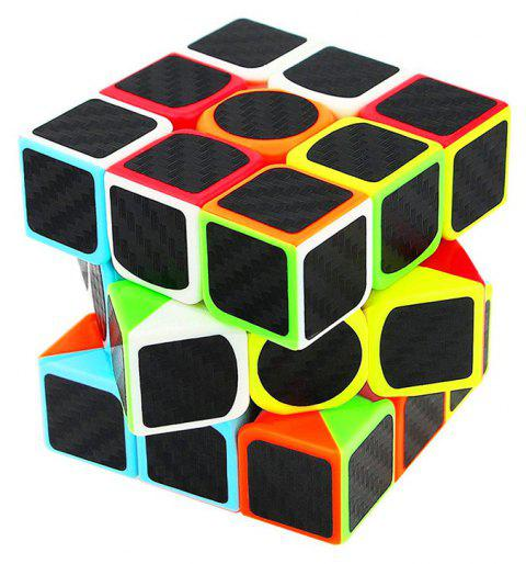 Jouet éducatif pour enfants en fibre de carbone noir Three Order Magic Cube - multicolor
