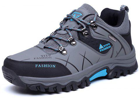 Hiking  Waterproof Outdoor Trail Sport  Men's Trekking Shoes - SMOKEY GRAY EU 45