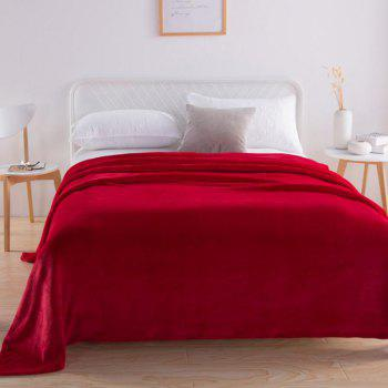 Home Comfortable Flannel Blanket Red - RED WINE W47 X L79 INCH