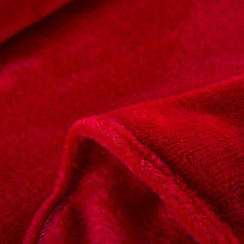 Home Comfortable Flannel Blanket Red - RED WINE W79 X L90 INCH