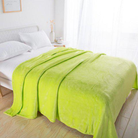 Home Comfortable Flannel Blanket Green - SALAD GREEN W47 X L79 INCH