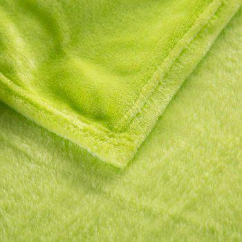 Home Comfortable Flannel Blanket Green - SALAD GREEN W70 X L79 INCH