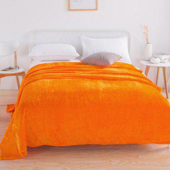 Home Comfortable Flannel Blanket Orange - DARK ORANGE W70 X L79 INCH