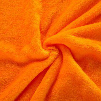 Couverture à la flanelle confortable Home Orange - Orange Foncé W47 X L79 INCH