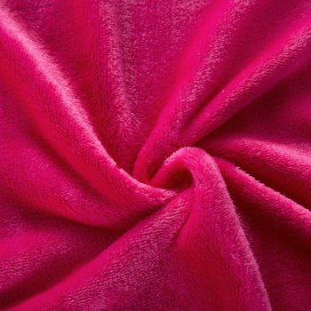 Home Comfortable Flannel Blanket Rose - ROSE RED W79 X L90 INCH