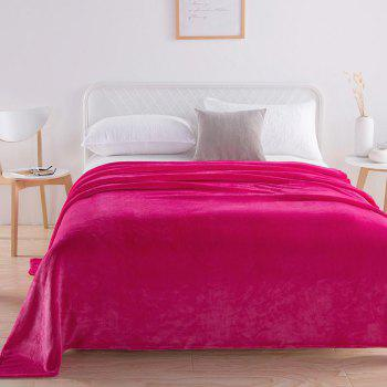 Home Comfortable Flannel Blanket Rose - ROSE RED W59 X L79 INCH