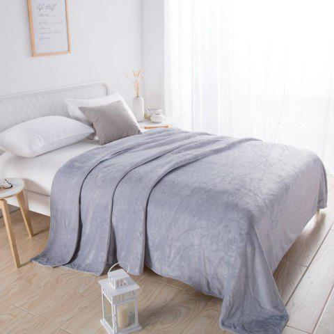 Home Comfortable Flannel Blanket Ash - GRAY CLOUD W79 X L90 INCH