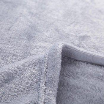 Home Comfortable Flannel Blanket Ash - GRAY CLOUD W59 X L79 INCH