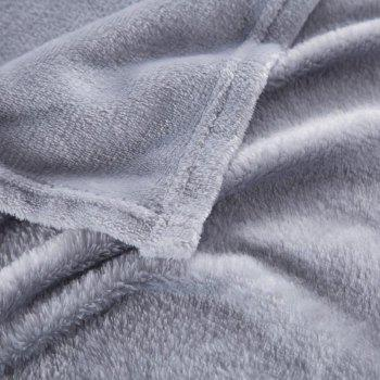 Home Comfortable Flannel Blanket Ash - GRAY CLOUD W47 X L79 INCH