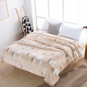 Home Comfortable Mink Velvet Blanket Watch The Forest - multicolor W70 X L79 INCH