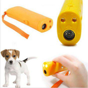 Chien Train Repeller Entraîneur de Contrôle Anti Bark Dispositif LED Stop Barking - Jaune