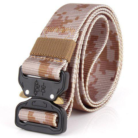 ENNIU Tactical Camouflage Nylon Military Training Outdoor Belt - THREE SAND CAMOUFLAGE