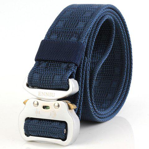 ENNIU 3.8 Aluminum Buckle Tactical Multi-function Nylon Outdoor Training Belt - DEEP BLUE